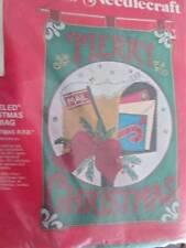 Jeweled Christmas Mail Bag Christmas RFD Felt Craft Kit -16x25 Inches Bucilla #3