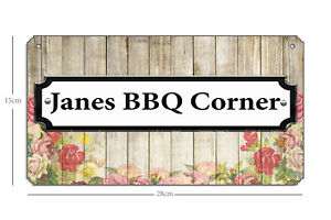 PERSONALISED Barbecue BBQ Grill Patio Sign Plaque Home Garden Party Outdoor Bar