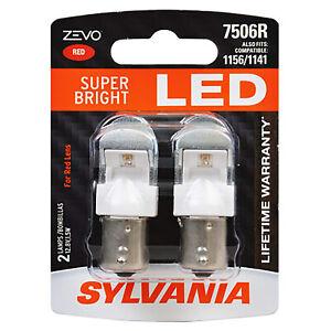 Sylvania Zevo 7506R Red LED Bright Interior Exterior Mini Light Bulb Set, 2 Pack