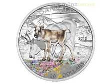 20 $dólares Baby Animals Caribou Karibu canadá 2016 1 Oz plata pp