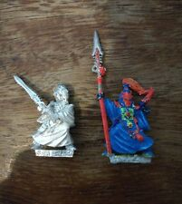 Eldar Warlock x 2 Warhammer 40k Metal Figure GW OOP