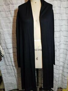 Donna Karan Black label Silk wool viscosOpen Front Hi Low Cardigan Medium/Large
