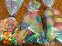 20 Iridescent Cello Bags - 5x11 Treat Party Favors, Unicorn, Mermaid, Birthday