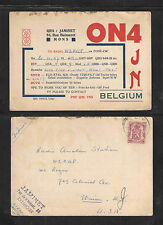 1947 ON4JN QSL CARD BELGIUM POSTALLY USED