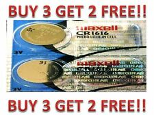 CR 1616 MAXELL LITHIUM BATTERIES (2 piece) 3V watch New BUY 3 GET 2 FREE!!