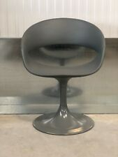 EX-SHOWROOM:ONE SEATER GREY PADDED PLASTIC/SWIVEL /HOME/ OFFICE BUCKET CHAIR