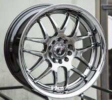 XXR 526 17X9 5x100/114.3 +35 Chromium Black Wheels Fits 350z G35 240sx Rx8 Rx7