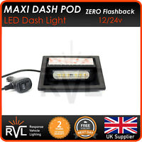 AMBER RVL - LED Maxi Dash Pod-Flashing Dash Light-12/24v-Strobe-Recovery-Truck