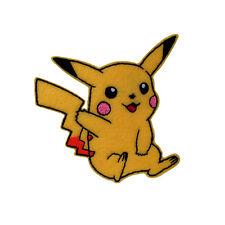 Bordado Pikachu Pokemon Sew & Parche de hierro en apliques en fieltro Amarillo