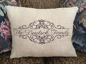 Personalized Burlap Pillow