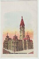 Unused Postcard Glitter City Hall Philadelphia PA