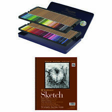 Creative Mark Cezanne Color Pencil Set of 72 Tin with Strathmore 9x12 Sketch Pad