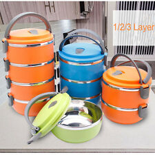 Stainless Insulated Thermal Thermo Server Lunch Box Food Container Storage Pop