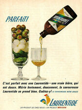 1964 MOLSON LAURENTIDE ALE -PERFECT ORIGINAL AD IN FRENCH
