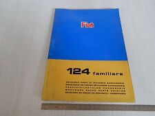 CATALOGO PARTI DI RICAMBIO ORIGINALE CARROZZERIA FIAT 124 FAMILIARE 1967 2 EDIZ.