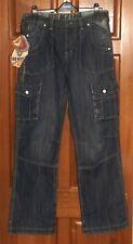 Benzini, men's blue, button fly jeans, size 32L, NWT