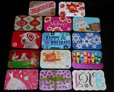 14 Collectible Gift Card TARGET Spring Department Store Dif Lot No Value <2010