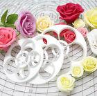 6Pcs Unique Design Fondant Cake Sugarcraft Rose Flower Cookie Mould Paste Cutter