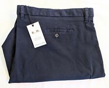 RM Williams Men's Scarborough Navy Shorts Navy Size 54 waist NEW Plus / Big size