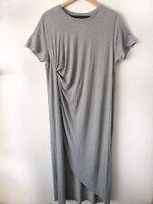 COS Ladies Unworn Grey Casual Everyday Loose Jersey Midi Maxi Dress L