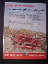 VINTAGE~INTERNATIONAL HARVESTER DIESEL BULLDOZER ART PRINT AD~ ORIG ANTIQUE 1946