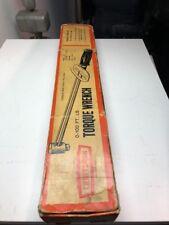 "VINTAGE CRAFTSMAN 9-44481 1/2"" TORQUE WRENCH 0-100 FT/ LB In Original Box"