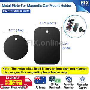 Metal Plate For Magnetic Car Phone Holder Accessories Stand Phone Support GPS AU