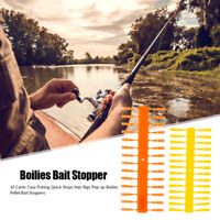 10 Cards Carp Fishing Quick Stops Hair Rigs Boilies Pellet Bait Stoppers Tackle