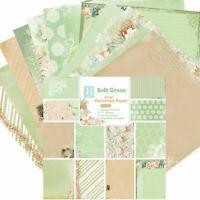 12x Weiche Grün Papier Hintergrund Scrapbooking DIY Happy Planner Card Making