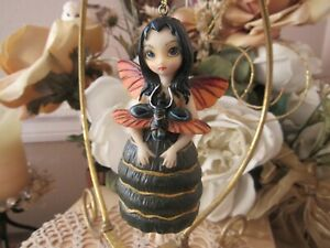 JASMINE BECKET GRIFFITH Strangeling BEETLE WING  FAIRY FIGURINE ORNAMENT NEW