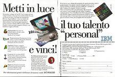 X1657 Personal Computer IBM - Pubblicità del 1994 - Vintage advertising