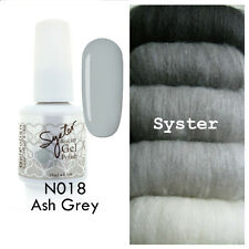 SYSTER 15ml Nail Art Soak Off Color UV Lamp Gel Polish N018 - Ash Grey