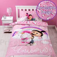 Ich - Einfach Unverbesserlich Daydream Fluffy Unicorn Einzel Bettwäsche Set