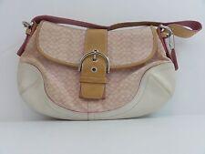 NWT Mini Signature Coach Pink Soho Flap Handbag 13.5 x 20 x 9 inches (M3J-6808)