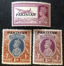 Pakistan 1947 3 X Stamps To 2 Rupees Mint Hinged