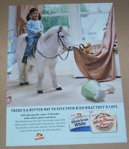 2006 print ad page - Wonder Bread cute little Girl pony horse Advert Advertising