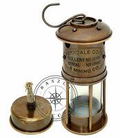 "Vintage Maritime 7"" Ship Lantern Nautical Marine Antique Brass Miner Oil Lamp"