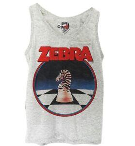 ZEBRA TANK TOP CHESS KNIGHT KARATE KID COBRA KAI worn by Johnny Lawrence 5549