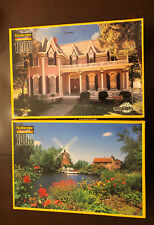 Lot Of 2 Kodacolor 1000 Pc Puzzles Hunsett Mill Norfolk England & The Gables CA