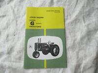 John Deere G tractor operator's manual