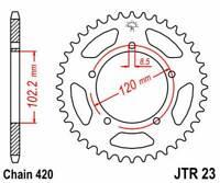 R2347: JT SPROCKETS Corona JT 23 de acero con 47 dientes