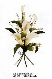 """Home Interiors Floral Calla Lilly Bush 24"""" Each, LAST ONES! NEW HOMCO HIG 40507"""