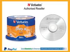 Blank DVD-R 4.7GB 50 Pk Branded 16x Verbatim # 95101