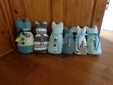 """Cat Draught Excluder 6 Cats Various Sizes Approx 12"""" Tall 27"""" long."""