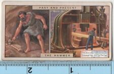 Early Stone Hammer and 1920s Steam Forge Hammer 85+ Y/O Trade Ad Card