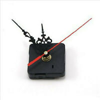 Quartz Movement Silent Clock Mechanism Black and Red Hand Part Kit Tool #HD3