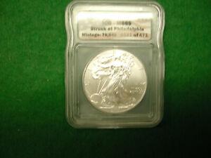 2015-(P) US Silver Eagle MS69 VERY RARE Struck at Philadelphia Mint