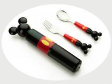 Cartoon Baby Food Fork Spoon Portable Box Stainless Steel Child Tool Tableware