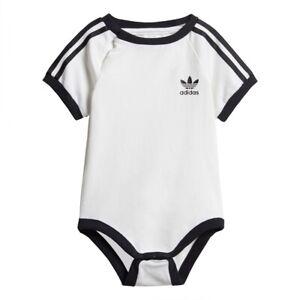 Adidas Originals Trefoil 3S Body Stampler Kinder Jungen Baby Logo schwarz weiss