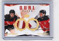 2015 UPPER DECK TEAM CANADA JUNIOR CONNOR McDAVID CROUSE DUAL PATCH /9  MC OILER